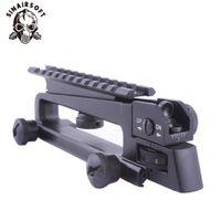trilhos de metal venda por atacado-Alça destacável de metal com dupla abertura traseira vista de ferro Picatinny Rail Mount vista traseira mecânica para M4 M16 AR15