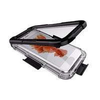 iphone plus su geçirmez hibrid toptan satış-Su geçirmez Kılıf iphone 6 6 s 7 8 Artı Hibrid Yüzme Dalış Darbeye Kapak Telefon Kılıfları iphone 8 7 6 için fundas coque artı
