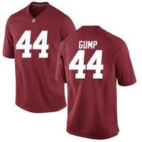 трикотажные изделия американского футбола сшитые оптовых-Custom NCAA Alabama Crimson Tide # 44 Форрест Гамп Футбол в колледже красный белый Мужчины Молодежь Дети черный Сшитый футбол колледжа Том Хэнкс Джерси