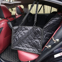 Wholesale novelty cushion covers resale online - Anti Dirty Puppy Seats Cushion Durable Washable Pet Waterproof Mat Abrasion Resistant Dog Car Seat Covers Black zy3 B