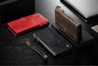 ingrosso portafoglio del polso della carta di credito-Custodia per Samsung Galaxy S8 S9 / S8 S9 Plus con cinturino da polso Portafoglio a vibrazione Magnetica All in One Borsa per cellulare Carta di credito multifunzione
