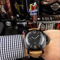 porzellan edelstahl gehäuse großhandel-CHINA großer SCHWARZER 47mm Fall AAA orologio automatischer Sportgroßverkauf Montre de Luxe-Art und Weisemann-Uhr nagelneue Männer des Edelstahls Uhren