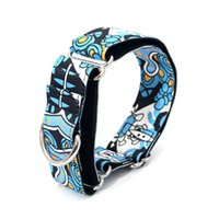 Wholesale extra strong - New Fabric Super Strong Durable Reef Martingale Dog Collars Pet Greyhounds Dog Collar 3 .8cm Wide Necklaces
