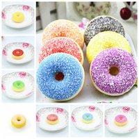 pãezinhos venda por atacado-Mini Donut De Chocolate Doce Rolo Lento Rising brinquedo Simulação Comida Squishy Modelo Pão Donut Casamento photograp adereços Novidade Item GGA836