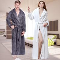 5db91b09fc ... Thick Grid Flannel Bath Robe Soft Peignoir Sexy Warm Dressing Gown Men  Bathrobe Bridesmaid Wedding Robes. 37% Off