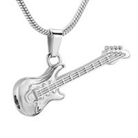 Wholesale slide guitar resale online - Guitar Cremation Necklace for Ashes Stainless Steel Memorial Pets Ashes Keepsake Pendant urn Necklace