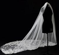 ingrosso vestito da cerimonia nuziale della sposa coreana-Coreano New Lace 5 metri lungo sposa velo da sposa pettine pizzo paillettes accessori abito bianco