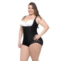 bodysuit mulheres tamanho grande venda por atacado-Shapers mulheres Zipper s-6xl Sexy Body Shaper Bunda Lifter Underwear Bodysuit Emagrecimento Plus Size Grande De Alta Compressão Push Hip Up Cintura Traine