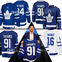 Wholesale m leaf - 2018 New 91 John Tavares Toronto Maple Leafs Hockey Jersey Men 16 Mitch Marner 34 Auston Matthews Jerseys Embroidery Logos TOP Stitched