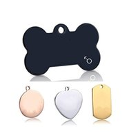 Wholesale dog id name tags for sale - Group buy Small Tag Dog Collar Cat ID Card Engraved Name Telephone Address Photo Stainless Steel Pendant Tags Pet Supplies ms bb