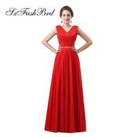 7111d0338 Vestido Rojo Del Baile De Fin De Curso De La Gasa Abierto Detrás Al Por  Mayor