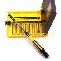herramienta de mano multi destornillador al por mayor-45-en-1 Juego de herramientas de destornillador de herramientas de destornillador profesional para el teléfono móvil del reloj Herramientas de reparación de buenas manos para uso múltiple
