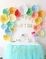 цветок день рождения благосклонность оптовых-20 30 40 см DIY бумажные цветы фон декоративные искусственные цветы свадебные сувениры день рождения украшения дома