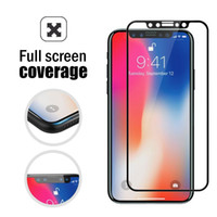 Wholesale Touch Screen Protection Film - 3D Touch Full Coverage Tempered Glass Edge to Edge Crash Protection Scratch Proof Tempered Glass Screen Protector Film For iPhone X Black