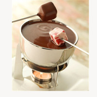Wholesale cheese sticks resale online - New Design pc Chocolate fondue dipping tools stainless steel fruit forks short grips buffet fountain cheese ice cream Marshmallo sticks