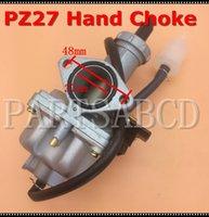 motocicleta peças sujeira venda por atacado-PZ27 27mm Mão Choke Carburador 150CC 200CC ATV Quad Da Bicicleta Da Sujeira Da Motocicleta Peças