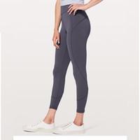 Wholesale fitness yoga pant wholesalers for sale - lulu Leggings Sport Fitness Patchwork Full Length Lulu Plus Size Lemon Running Pants Tights Gym Yoga Pants Women Elastic