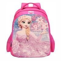 girl backpacks princess NZ - schoolbag big size Cartoon princess satchel primary  school backpack baby girls 9069cef261c91