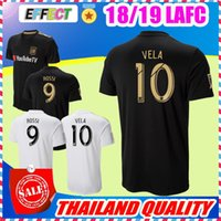 Wholesale Thailand Quality Soccer Jerseys Xxl - 2018 LAFC Soccer Jerseys 18 19 New Home Carlos Vela GABER ROSSI CIMAN ZIMMERMAN Black Primary Thailand Quality Football Shirts
