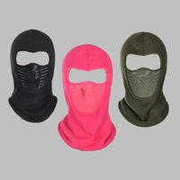 Wholesale winter full face cycling mask resale online - Autumn And Winter Wool Hat Outdoors Keep Warm Full Face Mask Cycling Windproof Masked Cap Man Women Riding Hats wj Ww