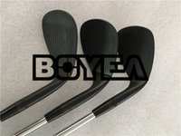 Wholesale golf clubs left hand - BOYEA Left Hand Golf Clubs SM7 Wedges Set Jet Black SM7 Golf Wedges 50 52 54 56 58 60 Steel Shaft With Cover