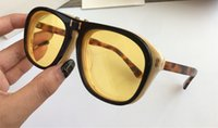 Wholesale yellow sunglasses lenses for sale - 0087 Luxury Sunglasses SK Large Frame Elegant Special Designer With Rivets Frame Built In Circular Lens Top Quality Come With Case