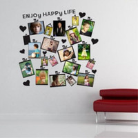 фотообои наклейки оптовых-Wall Paper 20Pcs DIY Family Picture Photo Frame Wall Sticker Removable Mural Home Decor Decal