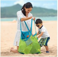 ingrosso sacchetto di pannolino per giocattoli-Nuovo design 45 cm Mommy Beach Borse per pannolini in maglia Baby Beach Mesh Borsa per giocattoli in sabbia Passeggino Borsa per il cambio del pannolino di grande capacità