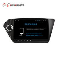 radio kia rio al por mayor-Actualizado ! T8 Octa-core Android 8.1 Reproductor de DVD del coche para Kia K2 Rio 2010-2015 con radio GPS BT Wifi 4G DVR 2G RAM