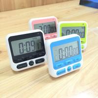 temporizadores de plástico al por mayor-LCD cocina temporizador reloj despertador herramientas de cocina en casa cocinar alimentos accesorios