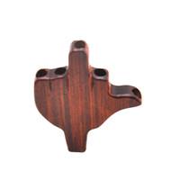 dia inhaber großhandel-Premium Natural Handmade Rose Holz Palm Form Rauchen Filter Tipps Dia. 8 MM Herb Rohr Tabak Zigarettenspitze Rohr Mundstück Zubehör