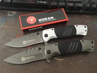 Wholesale Assisted Blade - NEW! OEM Boker F83 Fast-opening Flipper Assisted Pocket Folding Knife Tactical Camping Hunting Survival Knife Military Utility EDC Tools