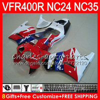 Wholesale 1998 vfr for sale - Group buy Glossy red VFR400R For HONDA NC24 V4 VFR400 R HM NC35 RVF400R VFR RVF R VFR R Fairing