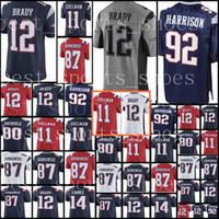 Wholesale Brady Jerseys - New England 12 Tom Brady Patriots 92 James Harrison jersey Men's 87 Rob Gronkowski 11 Julian Edelman stitched Football Jerseys