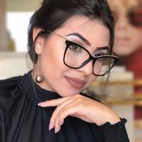 ultra helle brillen großhandel-MINCL 2018 Mode Lesen Brillen Optische Brillenfassungen Neue Brille Frauen Rahmen Ultraleichte Rahmen Klar NX