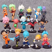 ingrosso nuove figure di sfera di drago z-16 Stili New Dragon Ball Z DBZ Kuririn Vegeta Trunks Congelare Son Goku SON Gohan Piccolo Freezer Beerus modello Figure Giocattoli