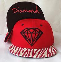 Wholesale Diamond Snap Back Hats - NEW 2018 High quality SnapBack diamond bone pyramid Hat panel Adjustable Baseball Cap men women sports Casquette Caps Snap backs gorras hats