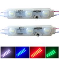 luz de la muestra de publicidad al por mayor-SASO SMD5630 Módulo LED Luces LED de inyección Módulos con lente Señal LED Retroiluminación para letras de canal Publicidad Luz tienda banner