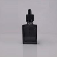 ingrosso 15ml bottiglie di olio essenziale verde-15ml 30ml vuoto verde blu nero opaco vetro rettangolare e bottiglia di liquido bottiglia di vetro contagocce contagocce olio essenziale