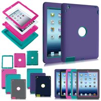 Wholesale universal wallet 3.5 for sale - Group buy Heavy Duty Back Cover Case Shock Proof Rubber Silicon For iPad Air Mini