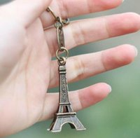 Wholesale eiffel tour - Retro Mini Decoration Torre Eiffel Tower Keychain Paris Tour Eiffel Key Chain Key Holder Key Ring Women Bag Charm Pendant Gift