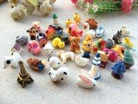 casas para férias venda por atacado-Artificial Kawaii Casa Animal Dos Desenhos Animados Resina artesanato mix resina cabochão Home Decor Micro Paisagem jardim de fadas miniaturas acessórios