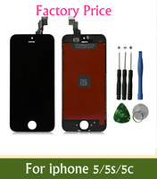 Wholesale prices for iphone 5c resale online - Factory Price Grade A LCD For iPhone S C LCD Display Touch Screen Digitizer free Best Repair Replacement With Repair Tools