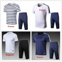 Wholesale football training vests - Spain Training suit Top Thai quality countries team white vest short-sleeved soccer jersey tshorts shirt survetement football