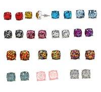 küpeler direkleri saplamaları toptan satış-Sıcak Satış Parti Glitter Damızlık Küpe Tırmanmak Yastık Kesim Bildirimi Sonrası Kulak Çiviler Sevimli Küpe Kadınlar Için Damızlık Moda Takı