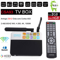 Wholesale core arms - 3G 32G CSA93 Amlogic S912 Octa Core ARM Cortex-A53 Android 7.1 TV Box WiFi BT4.0 2.4G 5.0G H.265 4K smart meida player