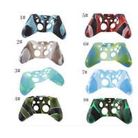 caja del controlador xbox one al por mayor-Nuevo para la cubierta de la caja de la piel del camuflaje flexible del silicón suave de Xone para la cubierta del apretón del regulador delgado de Xbox One