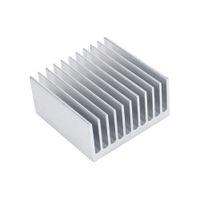 ailettes de radiateur achat en gros de-Radiateur ic Accessoires de refroidissement Dissipateur de chaleur 40X40X20mm IC HeatSink Métal En Aluminium Refroidissement Ventilateur Argent Couleur Soutien En Gros