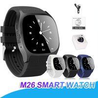 akıllı saat senkron android telefonu toptan satış-M26 Smartwatch Kablosuz Bluetooth Akıllı Izle Giyilebilir Sync Telefon Görüşmeleri Akıllı İzle Spor İzle Perakende Paketi Ile Anti-kayıp Uyarısı