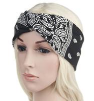 Wholesale stylish headband hair online - Paisley Design Stylish Cross Headband Head Scarf For Women Fashion Bohemia Hair Bands For Girl Retro Printing Turban Headwraps Gifts